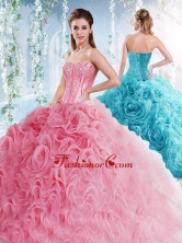 Visible Boning Beaded Bodice Detachable Quinceanera Dresses in Rolling Flowers SJQDDT530002FOR