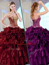 Wonderful Ball Gown Sweetheart Sweet 16 Dresses with Ruffles and Appliques QDDTK1002-1FOR