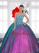2015 Wonderful Sweetheart Quinceanera Dresses with Beading QDDTA33002FOR