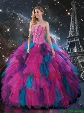 2016 Fall New Style Multi Color Sweetheart Quinceanera Dresses with Beading QDDTA106002FOR