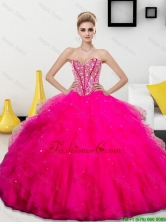 2016 Winter Perfect Beading and Ruffles Sweetheart Quinceanera Dresses QDDTA73002FOR
