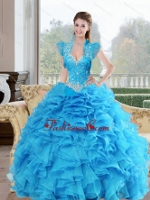 Beautiful Beading and Ruffles Sweetheart 2015 Quinceanera Dresses in Baby Blue QDDTA52002-1FOR