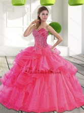 Beautiful Sweetheart 2015 Spring Quinceanera Dress with Beading QDDTC18002FOR
