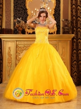 Brand New Satin and Tulle 2013 Spaghetti Straps With Beaded Decorate Wholesale  Quinceanera Dress  IN Juan Lacaze Uruguay Style QDZY095FOR