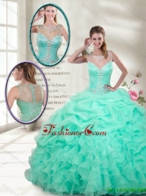 Classical Ball Gowns Mini Quinceanera Gowns with Beading SJQDDT120002AFOR