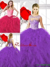 Classical Beading Ball Gown Sweet 16 Gowns with Sweetheart SJQDDT133002-1FOR