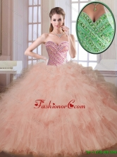 Classical Champagne Sweetheart Quinceanera Dresses with Beading SJQDDT176002-1FOR