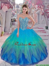 Discount Beaded Ball Gown Quinceanera Dresses for 2016 Winter QDDTA83002FOR