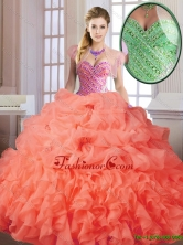 Elegant Spring Sweet 16 Dresses with Beading and Ruffles SJQDDT174002-2FOR