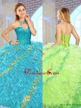 Exclusive Beading Multi Color Quinceanera Gowns for 2016  SJQDDT148002-1FOR