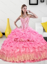 Exclusive Sweetheart 2015 Quinceanera Gown with Pick Ups and Beading QDDTA19002FOR