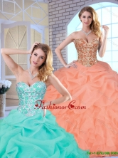 Hot Sale Beading and Ruffles Quinceanera Gowns with Lace Up SJQDDT161002-2FOR