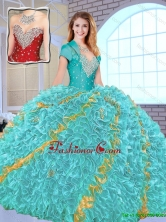 Modest Beading Sweetheart Quinceanera Gowns in Multi Color SJQDDT152002-1FOR
