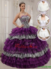 Modest Purple Ball Gown Sweetheart Quinceanera Dresses  QDZY436AFOR
