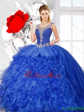 New Arrivals Scoop Quinceanera Dresses with Side Zipper SJQDDT130002FOR