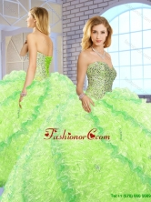 New Arrivals Sweetheart Quinceanera Gowns with Beading and Ruffles SJQDDT150002FOR