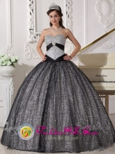 New Style Paillette Over Skirt Sweetheart Quinceanera Dress Beaded Decorate Bust Ball Gown For 2013 Fall in Trinidad Uruguay  Wholesale Style QDZY231FOR