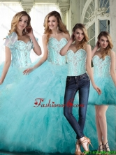 Pretty 2015 Winter Ball Gown Sweetheart Beading Quinceanera Dresses SJQDDT70001FOR