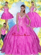The Most Popular Beading and Ruffles 2015 Fuchsia Quinceanera Dresses SJQDDT23001-2FOR