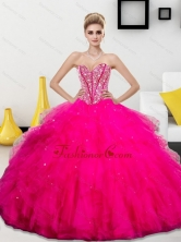 The Most Popular Beading and Ruffles Sweetheart 2015 Quinceanera Dresses QDDTA73002FOR
