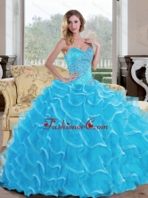 The Super Hot Ball Gown Sweetheart Quinceanera Dress with Beading QDDTC14002FOR