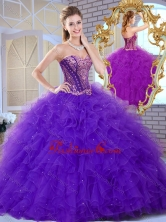 2016 Affordable Sweetheart Ruffles and Appliques Sweet 16 Dresses SJQDDT375002-2FOR