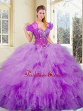 2016 Gorgeous Sweetheart Beading and Ruffles Sweet 16 Dresses SJQDDT369002FOR