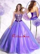 2016 New Arrivals Ball Gown Lavender Quinceanera Gowns with Beading SJQDDT450002FOR