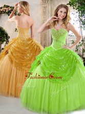 2016 New Arrivals Sweetheart Beading and Paillette Quinceanera Gowns for Spring QDDTH1002A-3FOR