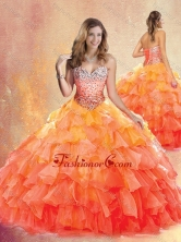2016 New Style Sweetheart Ball Gown Quinceanera Dresses with Ruffles SJQDDT431002FOR