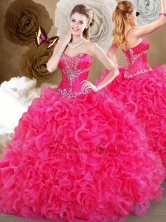 2016 Pretty Hot Pink Sweetheart Quinceanera Gowns with Ruffles SJQDDT469002-2FOR