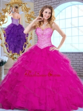 2016 Pretty Sweetheart Beading and Ruffles Quinceanera Dresses in Fuchsia SJQDDT379002-2FOR
