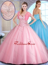 2016 Top Selling Ball Gown Ball Gown Sweet 16 Dresses with Beading SJQDDT383002FOR