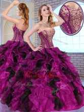 2016 Top Selling Ball Gown Sweet 16 Dresses with Appliques and Ruffles QDDTO2002-1FOR