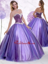 2016 Top Selling Ball Gown Sweet 16 Dresses with Beading and Sequins SJQDDT454002FOR