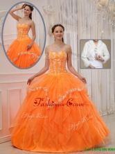 Recommended Ball Gown Sweet 15 Dresses with Appliques and Beading  QDZY311CFOR