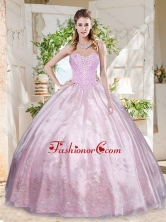 Best Beaded and Applique Quinceanera Dress with Really Puffy  SJQDDT708002FOR