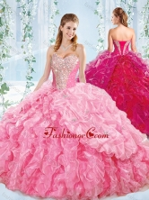 Best Selling Sweetheart Quinceanera Dress with Beaded Bodice and Ruffles SJQDDT550002FOR