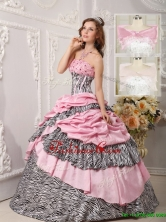 Recommended Ball Gown Beading Quinceanera Dresses in Multi Color  QDZY017BFOR