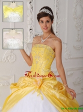 Recommended Strapless Quinceanera Gowns with Appliques for 2016  QDZY462DFOR