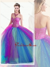 Custom Fit Multi Color Quinceanera Dress with Beading SJQDDT507002FOR
