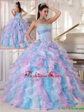 Recommended Elegant Multi Color Quinceanera Gowns with Ruffles and Appliques PDZY334DFOR