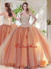 Exclusive Beaded Really Puffy Sweet 16 Dress in Orange SJQDDT714002FOR