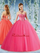 Feminine Beaded and Ruffled Tulle Quinceanera Dress in Puffy SkirtSJQDDT578002FOR