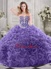 Gorgeous Beaded Bodice and Ruffled Quinceanera Dress with Chapel Train SJQDDT522002FOR
