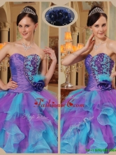 Recommended Multi Color Quinceanera Dresses with Beading and Ruffles  QDZY453CFOR