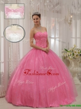 Recommended Gorgeous Sweetheart Beading Quinceanera Gowns in Pink for 2016 QDZY546CFOR