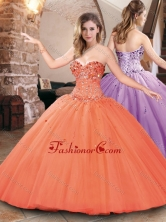 Hot Sale Big Puffy Tulle Beaded Bodice Sweet 16 Dress XFQD1042FOR