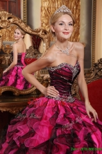 Recommended Latest Ball Gown Sweetheart Beading and Ruffles Quinceanera Dresses   QDZY689AFOR