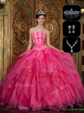 Recommended Strapless Sweet 16 Dresses with Appliques and Ruffles QDZY003EFOR